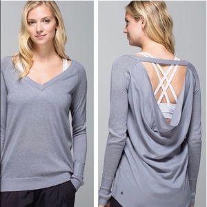 Lululemon unity sweater fossil grey colour